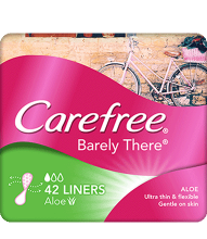 CAREFREE® BARELY THERE® Aloe Liners