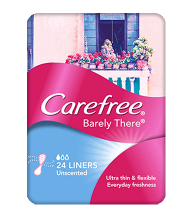 CAREFREE® BARELY THERE® Unscented Liners