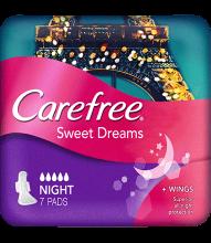 CAREFREE® Extra Sweet Dreams Night Pads