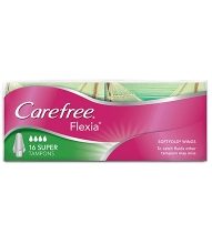 CAREFREE® FLEXIA® Super Tampons