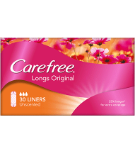 CAREFREE® Original Long Unscented Liners