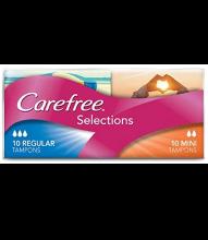 CAREFREE® Selections Mini/Regular Tampons