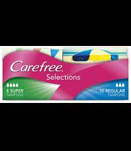 CAREFREE® Selections Regular/Super Tampons
